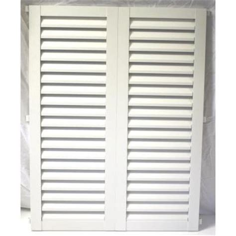 poma 36 in x 57 75 in white colonial louvered hurricane