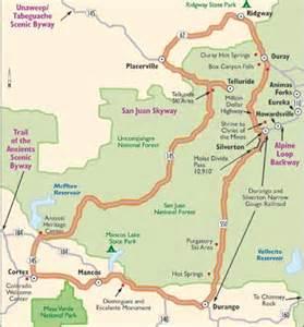map of colorado mountain passes colorado scenic drive san juan skyway howstuffworks