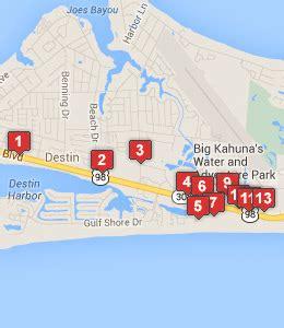 destin florida map of hotels hotels near near uscg station destin see discounts