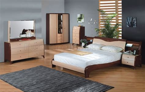 maple bedroom furniture sets maple and cherry finish contemporary bedroom set