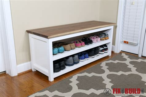 build a shoe bench diy entryway shoe storage bench fixthisbuildthat