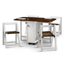 charming Gateleg Table With Folding Chairs #7: lisa_table_white_walnut_4_chairs.jpg