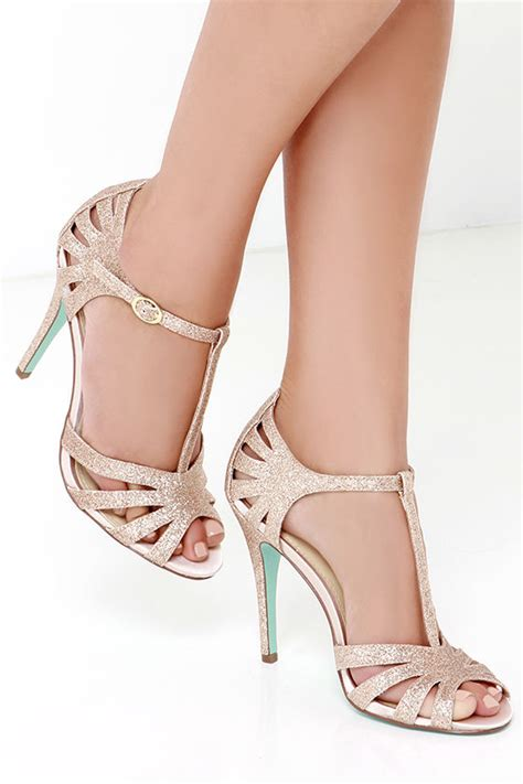 dress sandals for wedding blue by betsey johnson chagne glitter dress sandals