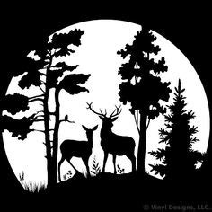 In the moonlight hunting vinyl wall decal sticker art removable home