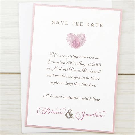 save the date wedding stationery uk thumb print save the date invitation wedding invites