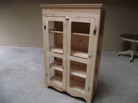 hand crafted pie safe  kitchen hutch diy unfinished