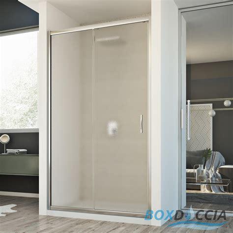 anta doccia cristallo box cabina doccia nicchia parete porta 1 anta cristallo