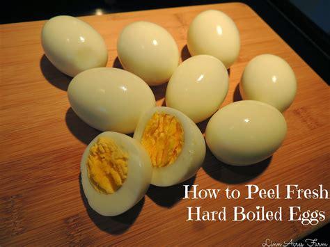 acres farm peeling fresh boiled eggs