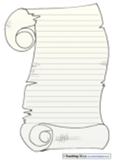 scroll paper templates teaching ideas