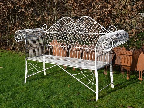 decorative garden bench a decorative mid 20th century wirework garden bench