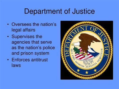 This Cabinet Department Handles Violations Of Antitrust Laws by Ppt The President S Cabinet Powerpoint Presentation Id