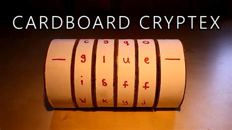 How To Make Paper Lock - cardboard cryptex safe