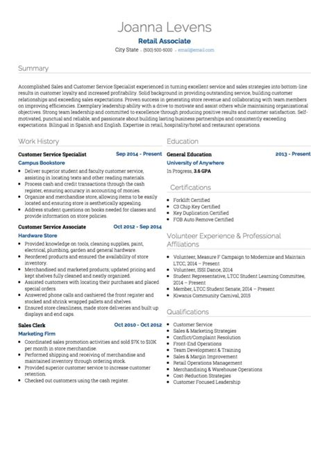 retail salesperson resume examples created by pros myperfectresume