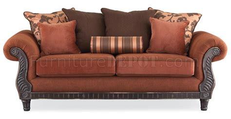 multi fabric sofa multi tone fabric traditional living room sofa w rolled arms