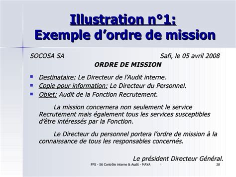 Lettre De Mission Visa Algerie Exemple Ordre De Mission En Anglais Document