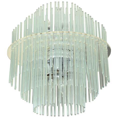 Glass Rod Chandelier Midcentury Glass Rod Chandelier By Lightolier At 1stdibs