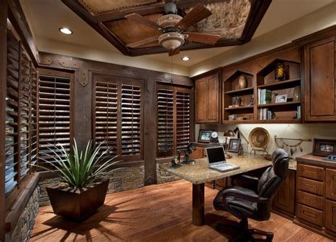 rustic home office 20 rustic home office designs decorating ideas design