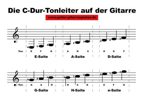 wo liegen die noten auf der gitarre c dur tonleiter auf der gitarre einfach geiler gitarre