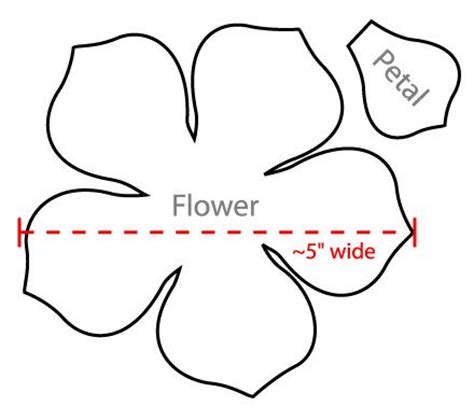 pattern for flower petals flower petal template google search stuff to print