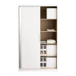 morvik wardrobe white mirror glass 120x205 cm ikea