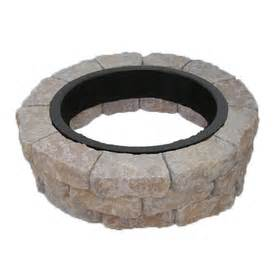 Lowes Firepit Kit Shop Harvest Blend Flagstone Pit Patio Block Project Kit At Lowes