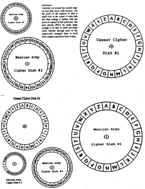decoder card template cipher disk templates