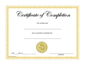 Certificate Of Completion Template Free Certificates Of Completion Free Printable
