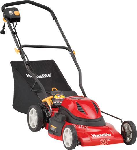 homelite 20 inch corded electric mower the home depot canada
