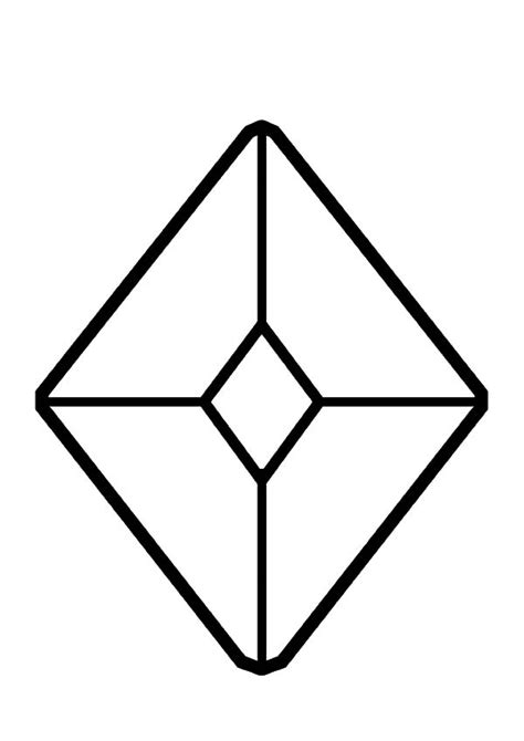 shapes printable diamond shape cutouts 12 images of jewel shapes coloring pages diamond drawing