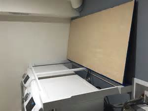 installing countertop he washer dryer carpentry