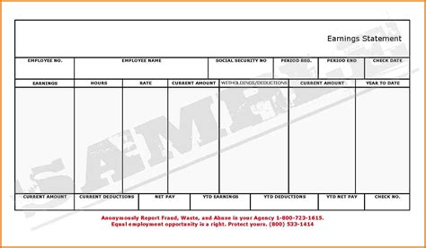 adp pay stub template free template idea