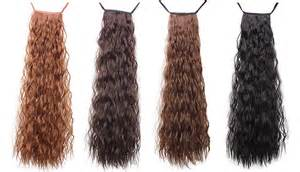 how to install clip in extensions on corn roll hair chestnut brown corn wave ponytail clip in synthetic hair