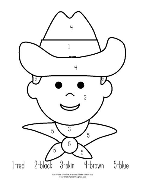 printable rodeo numbers fun learning printables for kids