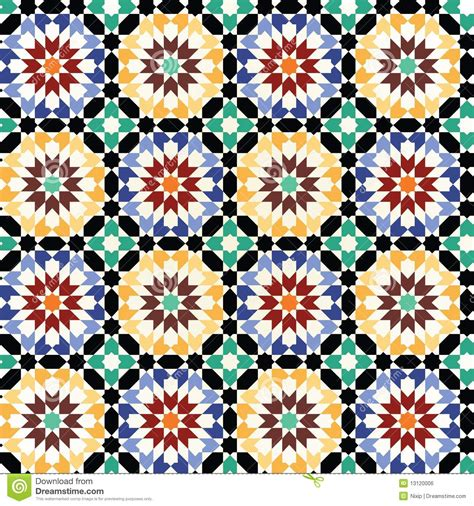 seamless mosaic pattern vector seamless mosaic tile pattern vector stock vector