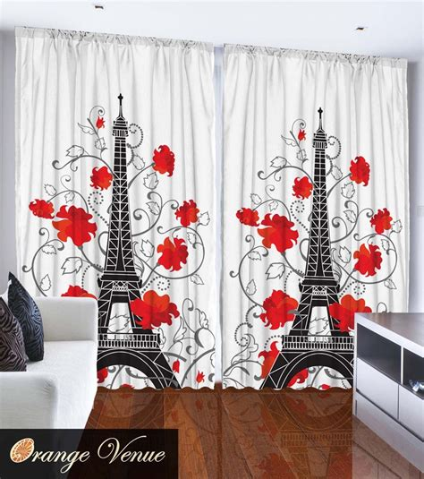 Eiffel Tower Bedroom Curtains | eiffel tower paris city decor bedroom accessories french