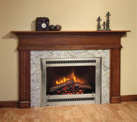 electric fireplace on custom fireplace