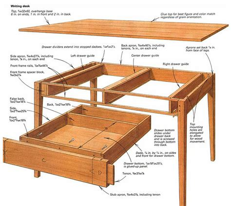 making  writing desk finewoodworking