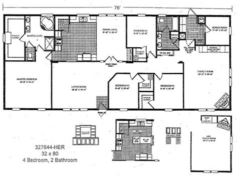 3 bedroom wide mobile home floor plans http