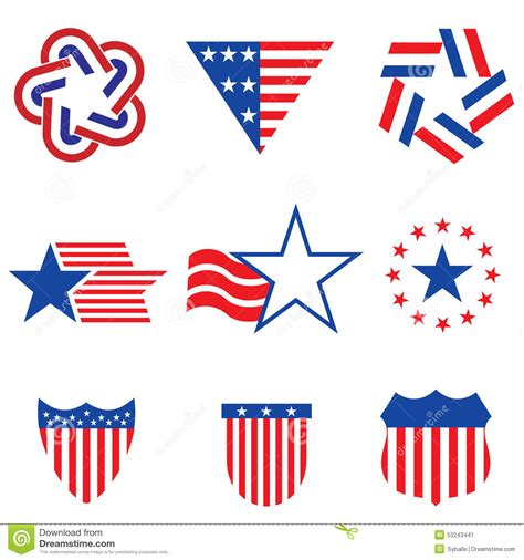 graphics design usa set of various made in the usa graphics and labels stock