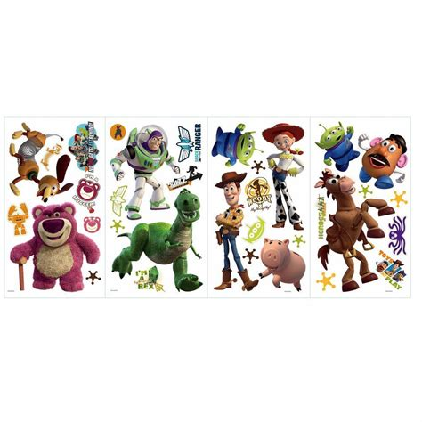 toy story 3 bathroom scene roommates 5 in x 11 5 in toy story 3 peel and stick wall