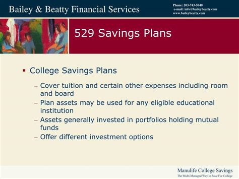529 room and board qualified expenses ppt manulife college savings the multi managed way to save for college powerpoint presentation