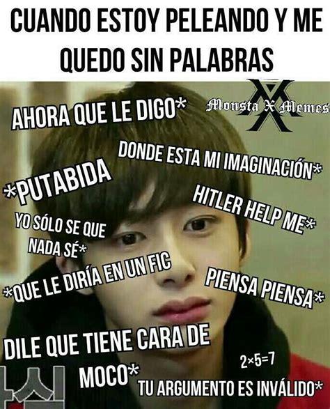 imagenes de kpop memes en español memes de monsta x kpopawards2017 peleas wattpad