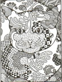 free zentangle coloring pages free coloring pages of zentangle dogs