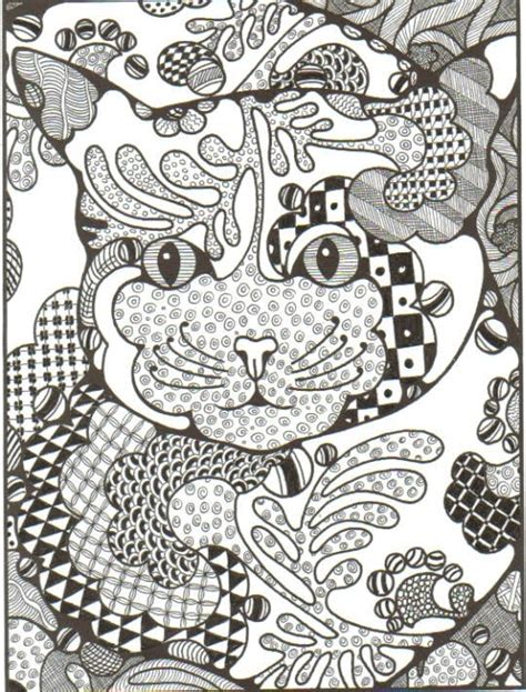 Free Coloring Pages Of Zentangle Dogs Zentangle Coloring Page