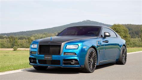 Dub Magazine Black And Blue Rolls Royce Wraith By Mansory