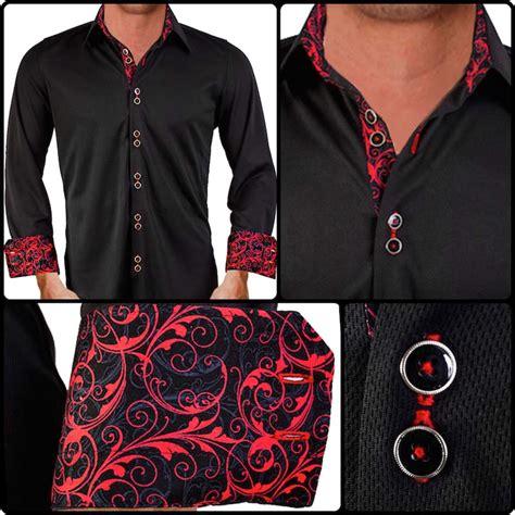 design dress shirts black red paisley dress shirt