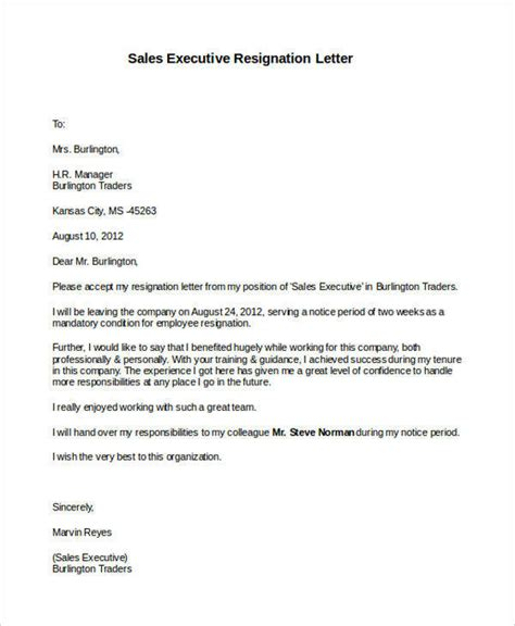 thank you letter after executive director 31 formal resignation letters