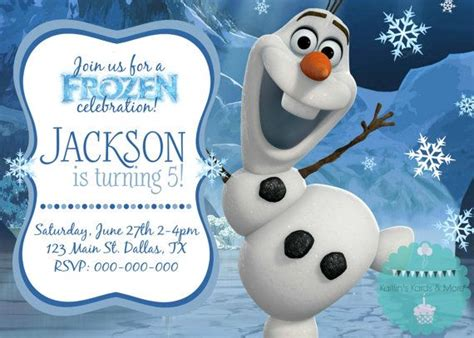 printable olaf invitations 17 best images about frozen themed party on pinterest