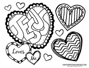 jesus valentine coloring page valentine s day bible printables