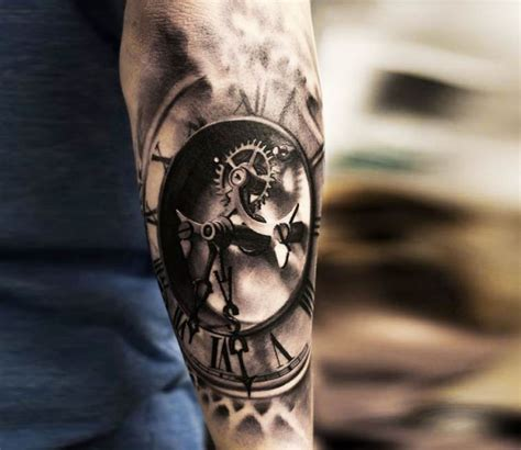 badass tattoo ideas for guys 3d clock by oscar akermo best tattoos